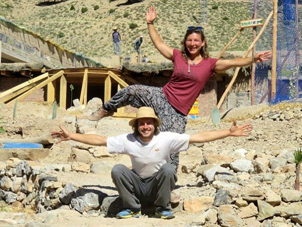 Joana Baumann und Lukas Müller in Marokko